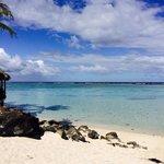 View from the beach at The Rarotongan