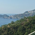 View from hotel to Taormina