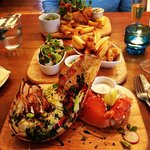 Lobster special and battered monkfish - mains