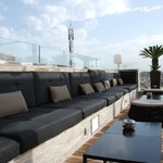 Great roof top lounge area