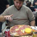 Massive pizza! YUM!
