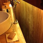 Old wood in the bathroom