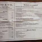 Menu/Speisekarte, July 2014, Ivo&Co Bistro