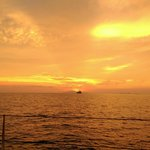 The Sunset from our cruise, it left from the beach right at the Andaman