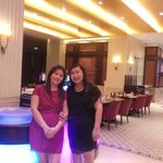 Shangri-la dining area with my sister.