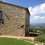 Villa Noce and garden. view across road
