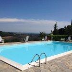podere Monti pool view