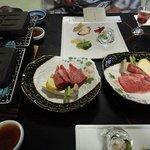 夕食(淡路牛の石焼き)