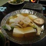 夕食(鱧すき鍋)
