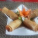 My wife's favourite - the prawn spring rolls.