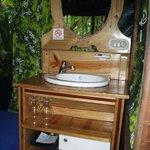Inside tent cabin