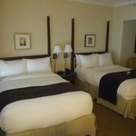 double beds in room