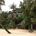 Vores hotel lejlighed set fra stranden