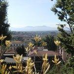 Blick von der Terrasse über Rom