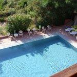 piscine de l'hotel vue de notre chambre