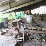Machine used to shape bricks from clay