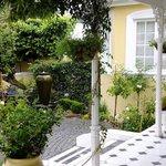 The garden setting outside the verandah rooms