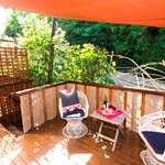 Enjoy greenery and birdsong, just outside your room