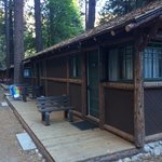 Private cabins with bathrooms at Curry Village