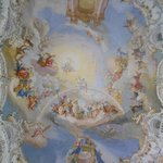 Wies church: large ceiling fresco
