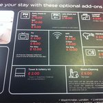 hotellets lista på extrakostnader