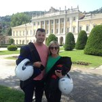 Tim & Toula from Sydney in front of Villa Olmo