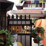 Hotel Norbu Linka, Blick aus dem Cafe Garten