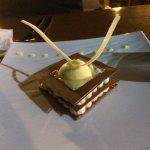 Dessert carré chocolat