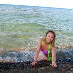 Ступеньки из бара Белла Виста на островке между лагуной и морем
