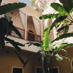 The view inside the riad