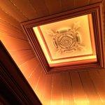 Beautiful ceiling detail in elevators