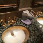 Public restroom opulent tapware