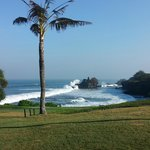 View of Tanah Lot temple from resort