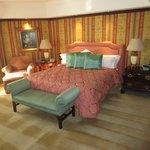 El dormitorio de la Suite Governor. Lujo total!