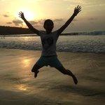 Sunset di pantai jimbaran