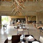 Restaurant ouvert sur le bush