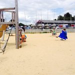 Beach play area.