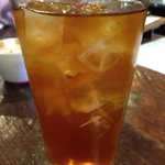 Mint infused black tea- perfectly iced and minty!