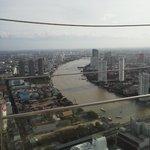 屋上から見えるチャオプラヤ川
