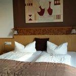 La camera in cui abbiamo soggiornato. Notare avevamo gli Haribo sui letti come benvenuto!!!