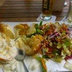 baked potatoe and salad