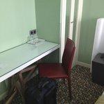 Small desk and closet