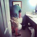 Husband has to manually flush the toilet