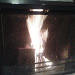 The fire in our living room.
