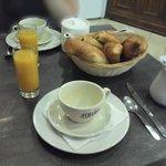 Petit déjeuné de l'Hôtel (juin 2014)