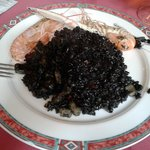 Paella black rice