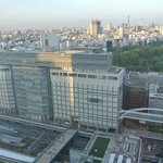 Overlooking Shinjuku Station and Nearby Shopping