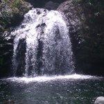 Waterfall on bike tour - fun to swim under!