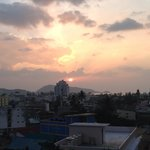 Sunset and view from roof top bar/restaurant