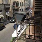 vue de la chambre sur la rue